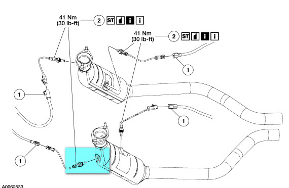 ford f 150 oxygen sensor location