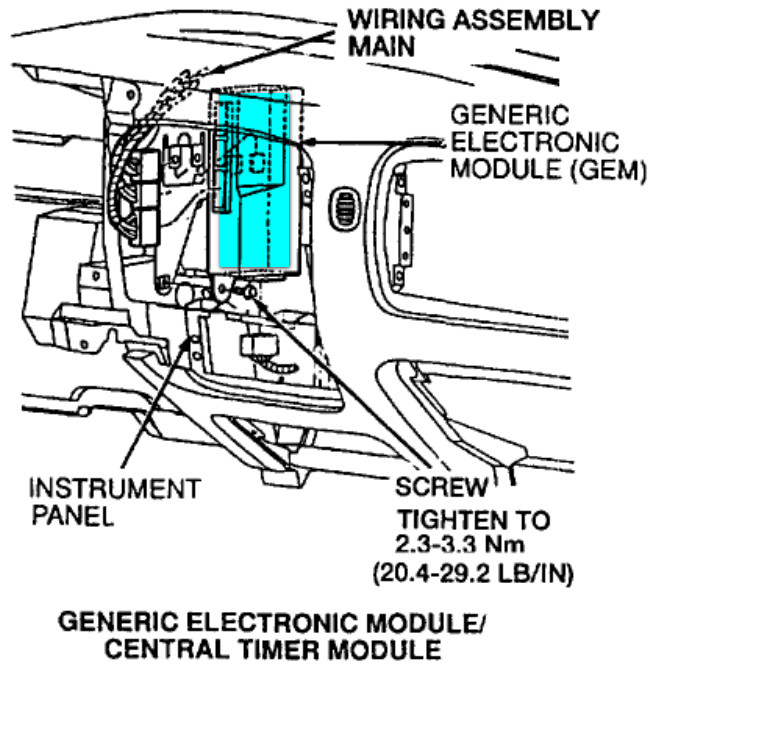 ford ranger gem module location
