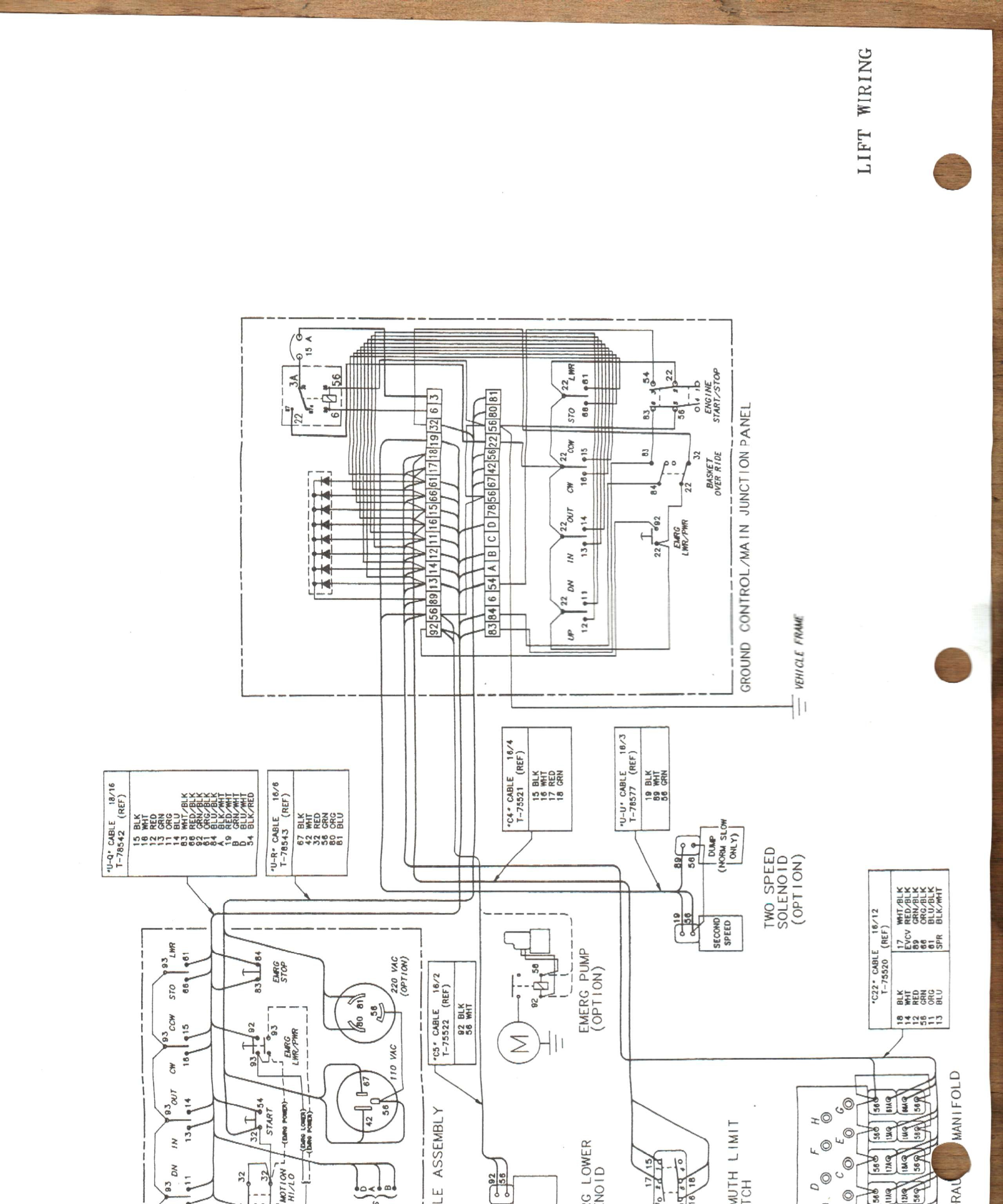 truck wiring diagram i need a wiring schematic for a 28 ft telsta bucket truck