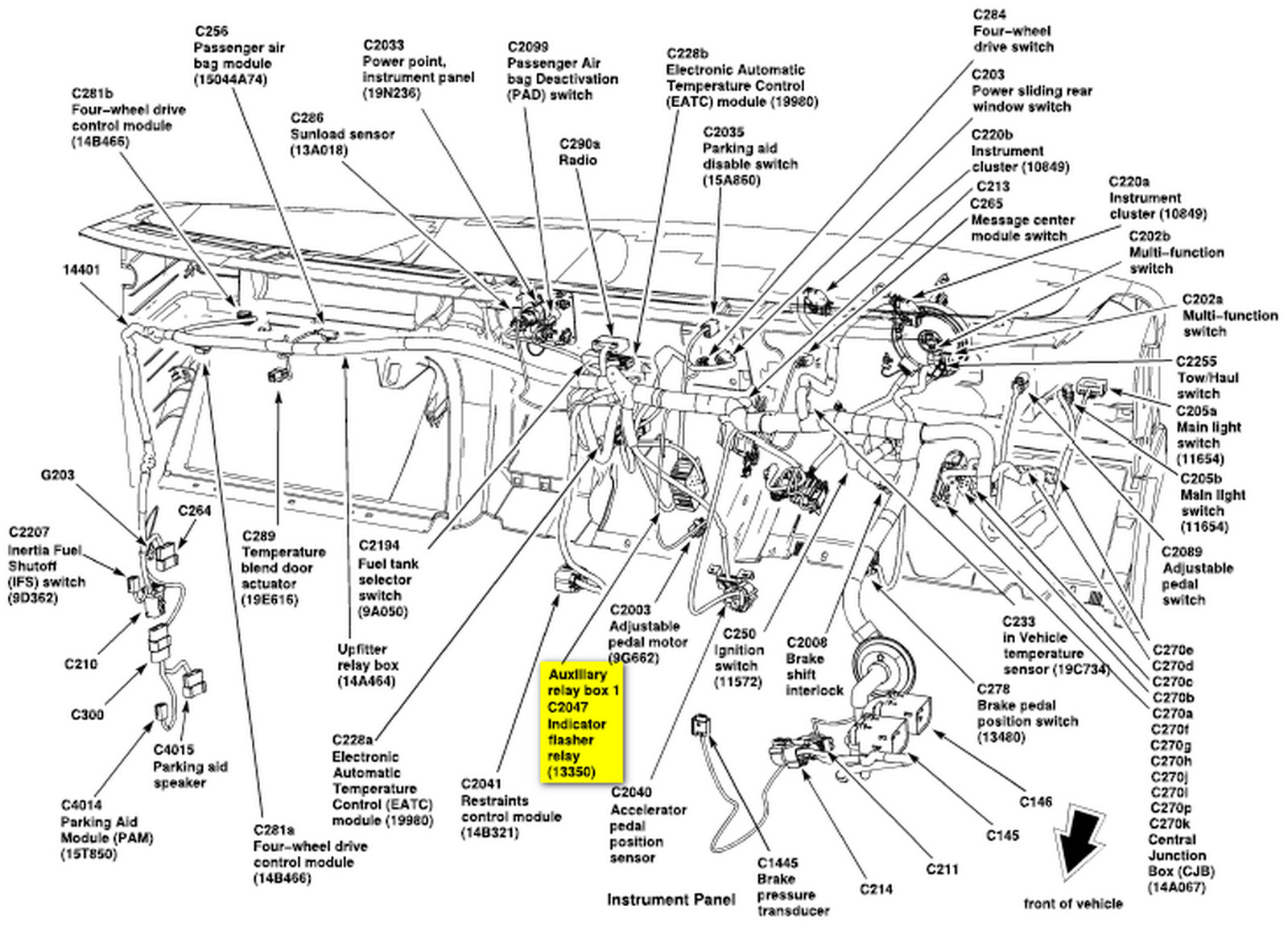 2013 Ford E 450 Fuse Box Diagram on 2001 cougar fuse and relay diagram