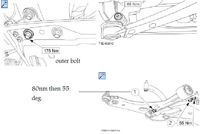 have you torque settings for fiesta 1 25 build date 01  2007 for  front hubs strut to hub carrier