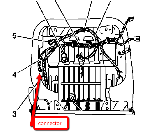 gmc seat belt diagram