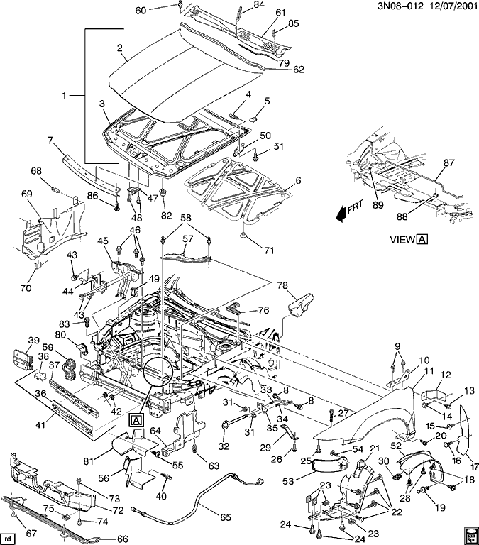 Olds Alero Parts Diagram