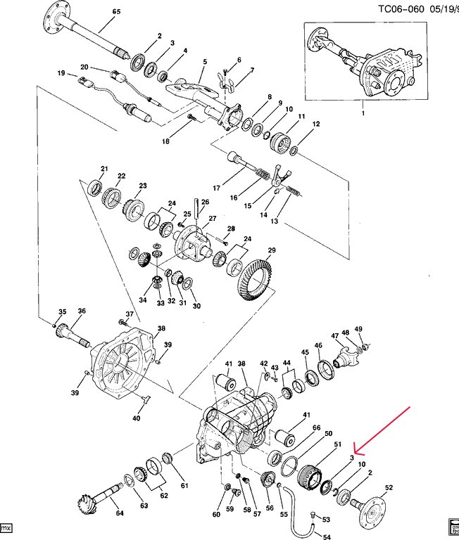 chevy 3 4 ton rear end schematic