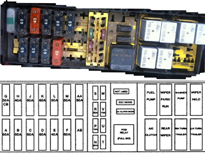 Engine Compartment Fuse And Relay Panel on 1998 Ford Windstar Fuse Box Diagram