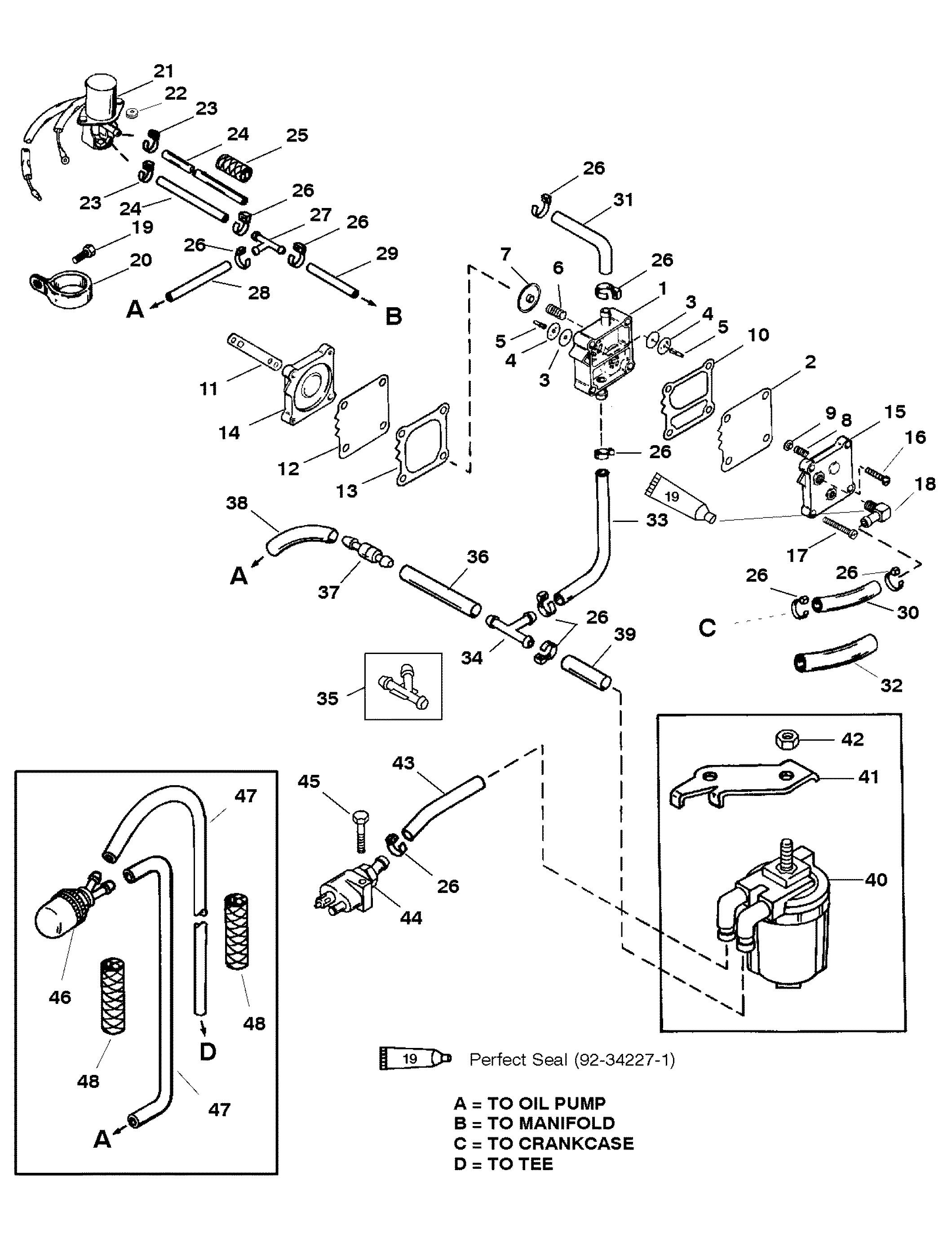 mercury outboard 115 hp fuel pump diagram  mercury  free