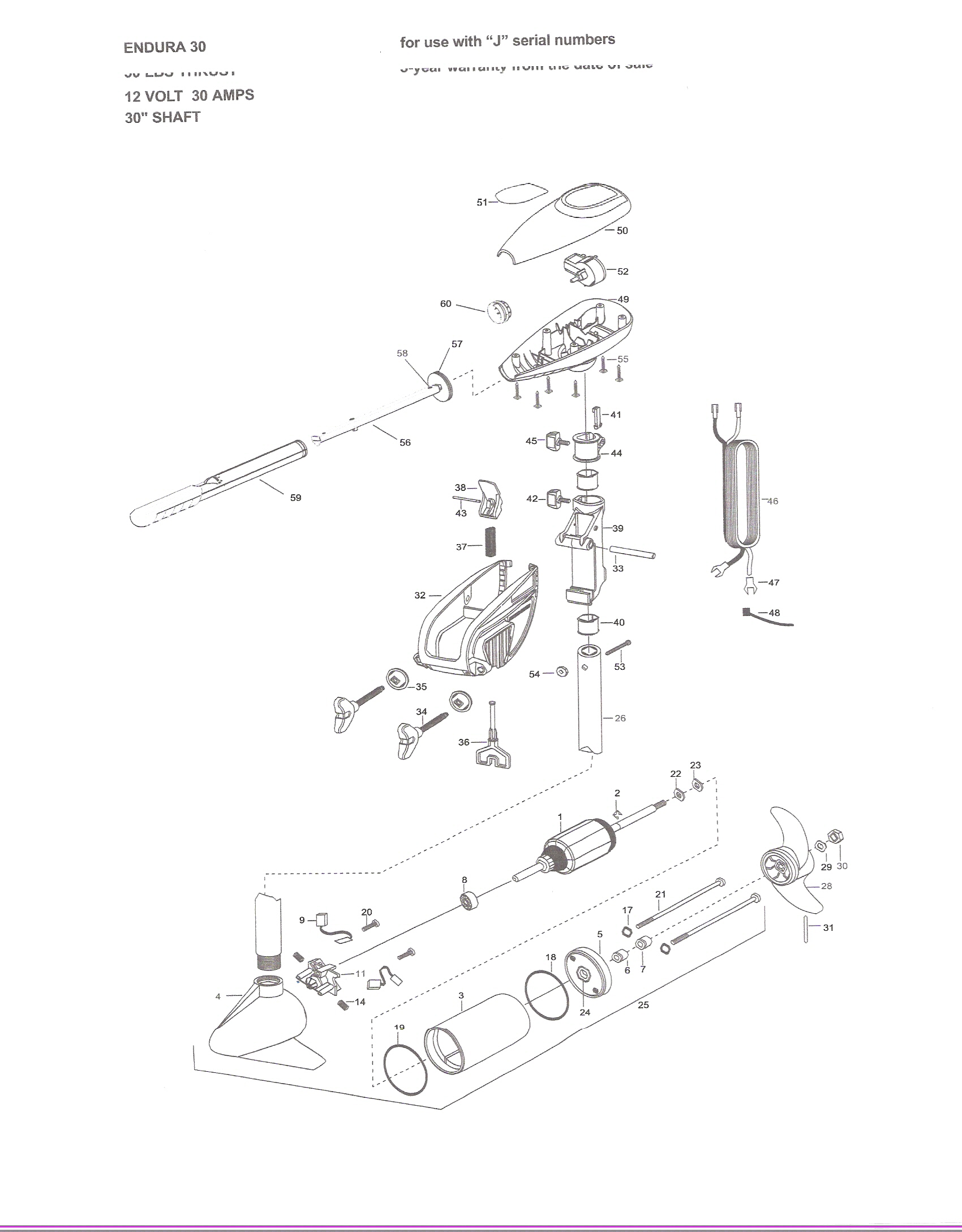 minn kota endura 40 parts diagram images