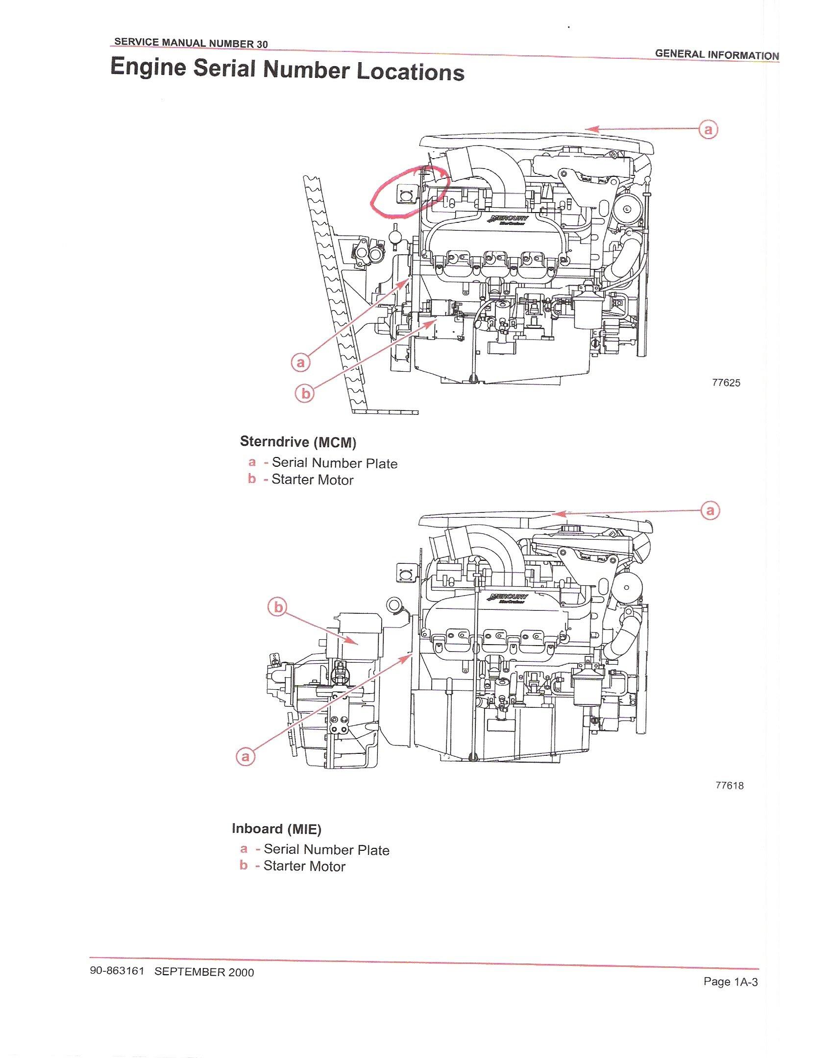 2001 baja mercruiser 496 ho engine 1 where is the location graphic