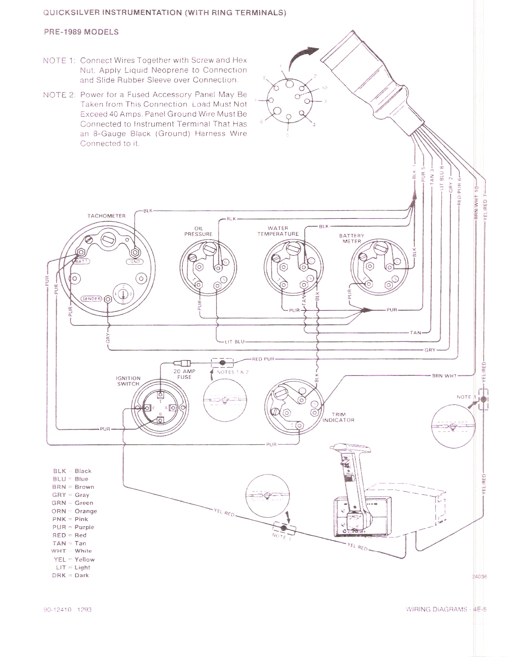 sea pro boat instrument panel wiring diagrams