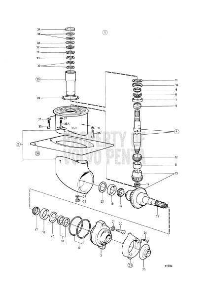 volvo penta lower unit diagram  volvo  free engine image