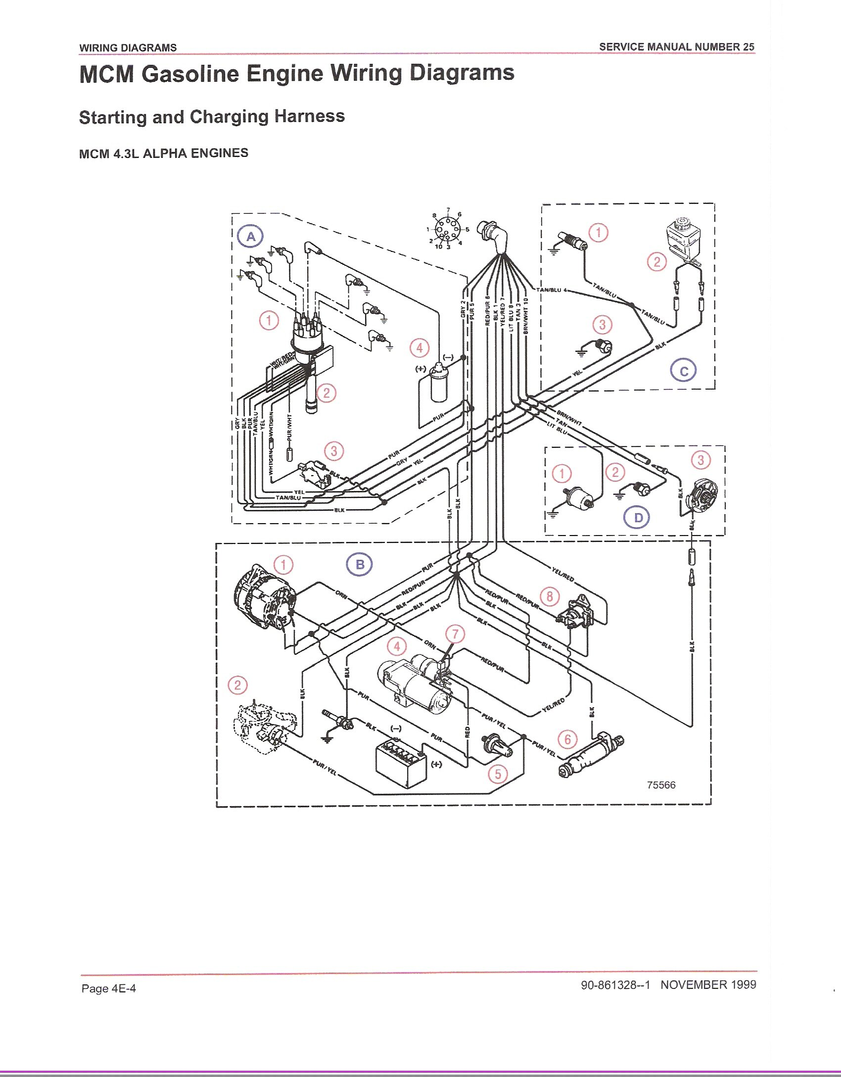4 prong trailer wiring harness diagram mercruiser 4.3 i/o loss of power when throttling up, in either direction.had earlier issues with ... 4 cylinder mercruiser wiring harness diagram