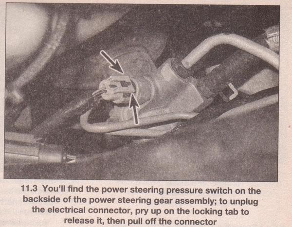 Psswitch on Bad Power Steering Pressure Switch