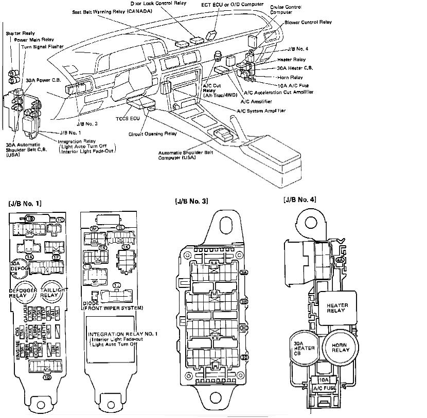 1988 toyota camry fuse box diagram image details