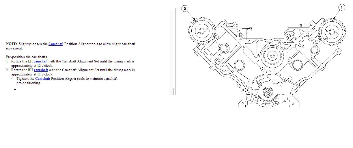 2004 Mercury Mountaineer Cylinder Diagram as well Pic Transmission Cooler Lines Diagram Chart Jeep Cherokee Forum For 2000 Jeep Grand Cherokee Cooling System Diagram furthermore Ford F150 F250 How To Replace Your Timing Chain 361728 together with Ford F150 F250 How To Replace Your Timing Chain 361728 besides 97 F150 4 6 Triton Engine Diagram. on ford f 150 1997 f150 camshaft timing