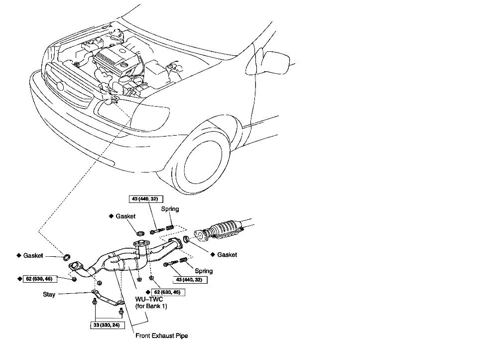4fdcq Toyota Sienna Ce 2002 Toyota Sienna 3 0 Code likewise T7859719 O2 sensors side further Oxygen sensor location besides Chevrolet V6 Engine Diagram as well How To Replace A Catalytic Converter On A 2003 2007 Honda. on toyota catalytic converter