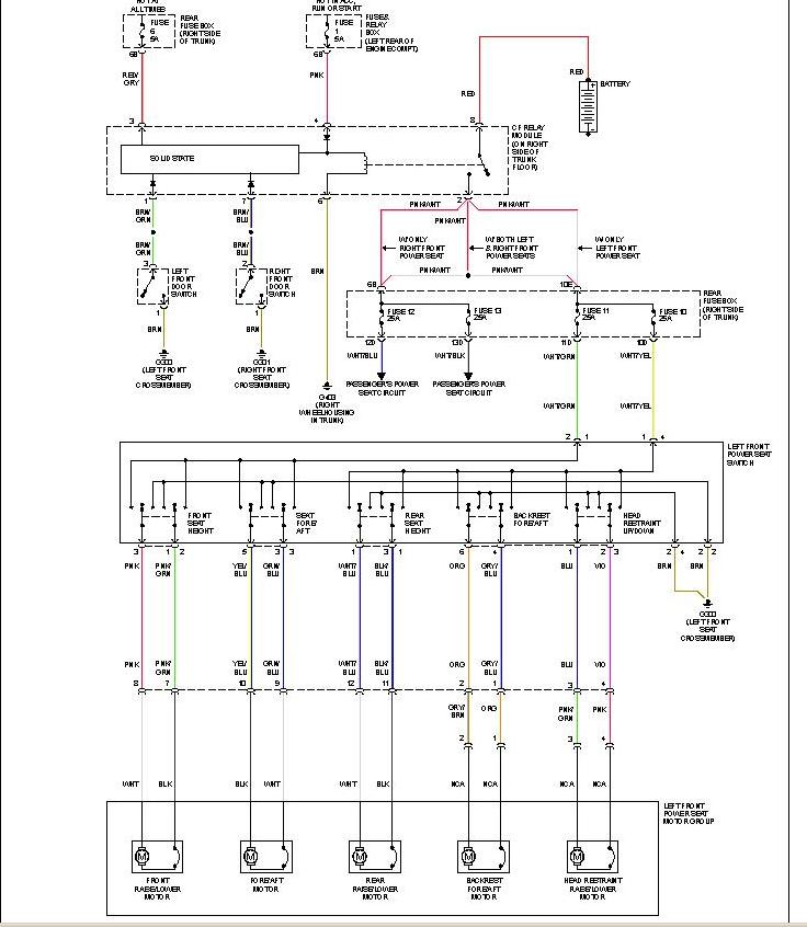 mercedes c230 there a schematic for the electric seats