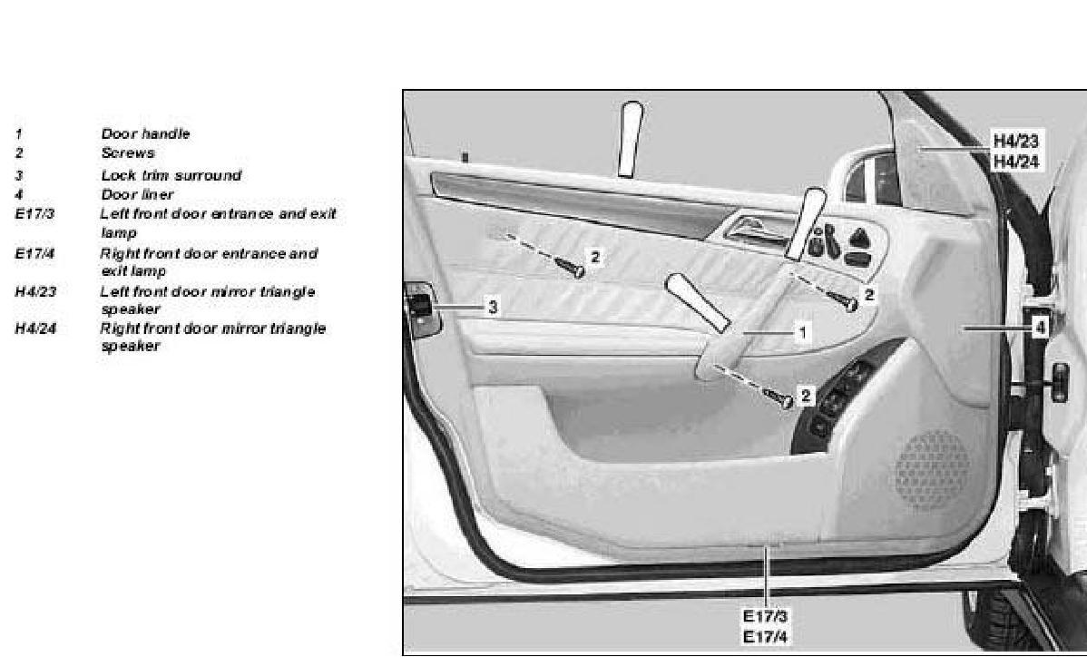 Service manual 2000 mercedes benz sl class door handle for 2000 mercedes benz e320 owners manual