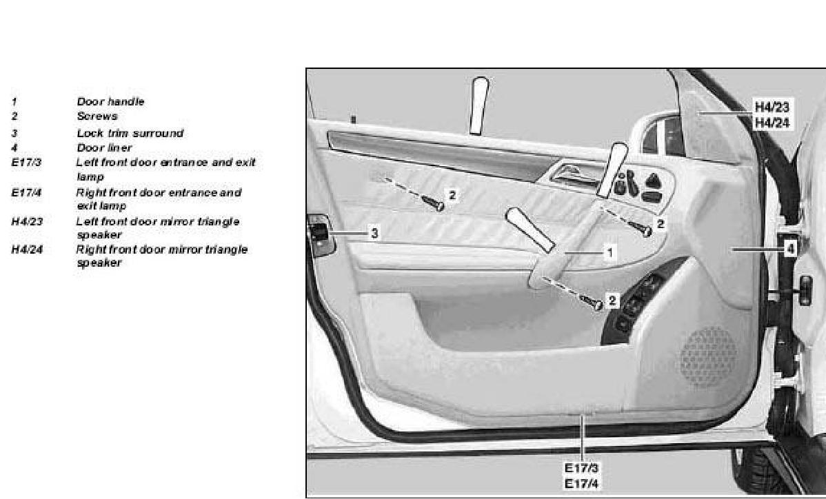 Service manual 2000 mercedes benz sl class door handle for 2000 mercedes benz ml320 owners manual