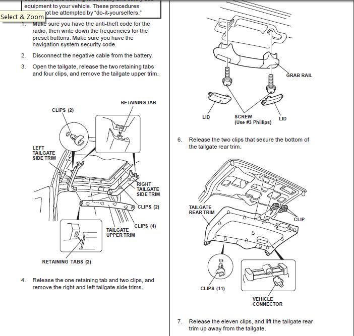 Service Manual Diagrams To Remove 2007 Honda Pilot Driver