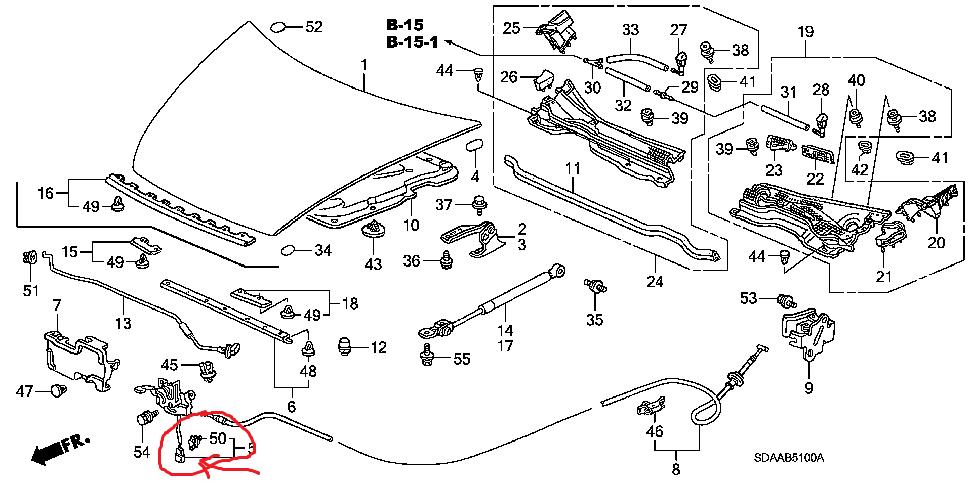2010 honda accord door latch diagram