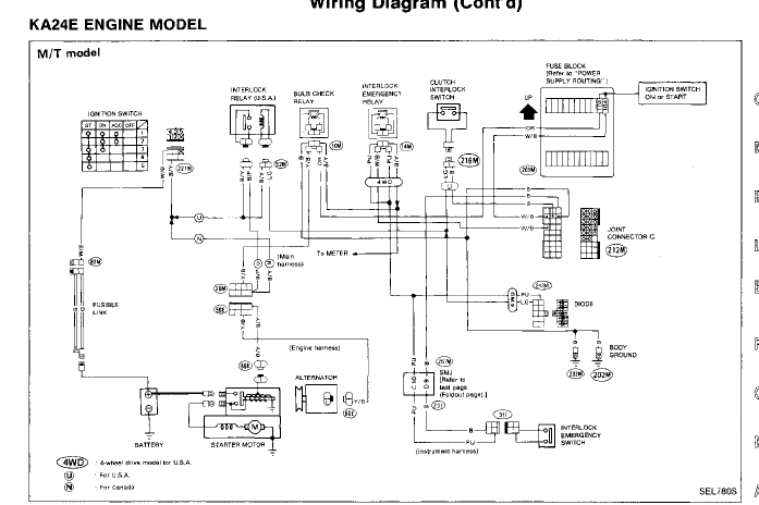 i have a 1995 nissan pickup 4x4 2.4l engine. i rebuilt the ... 94 nissan pathfinder wiring diagram #5