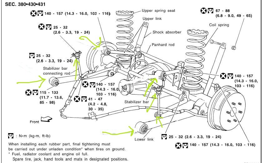 diagram on 2005 nissan altima rear suspension
