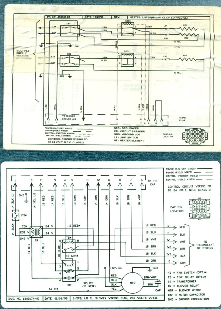 Nordyne Furnace Wiring Diagram from ww2.justanswer.com