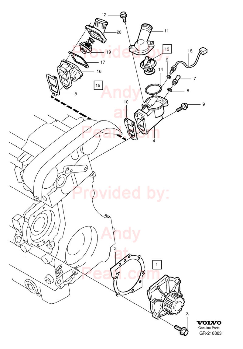 Volvo Thermostat And Engine Coolant Temperature Sensor on 2004 Volvo Xc70 Wiring Diagram
