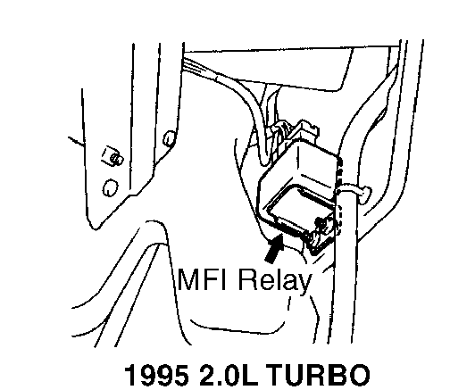 e34 fuel pump relay location