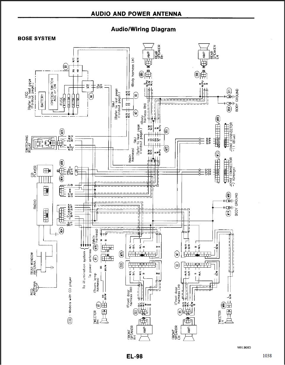 2012 nissan maxima bose wiring 1995 nissan maxima bose wiring diagrams we have a 1995 infiniti j30t with the bose system. all of ...