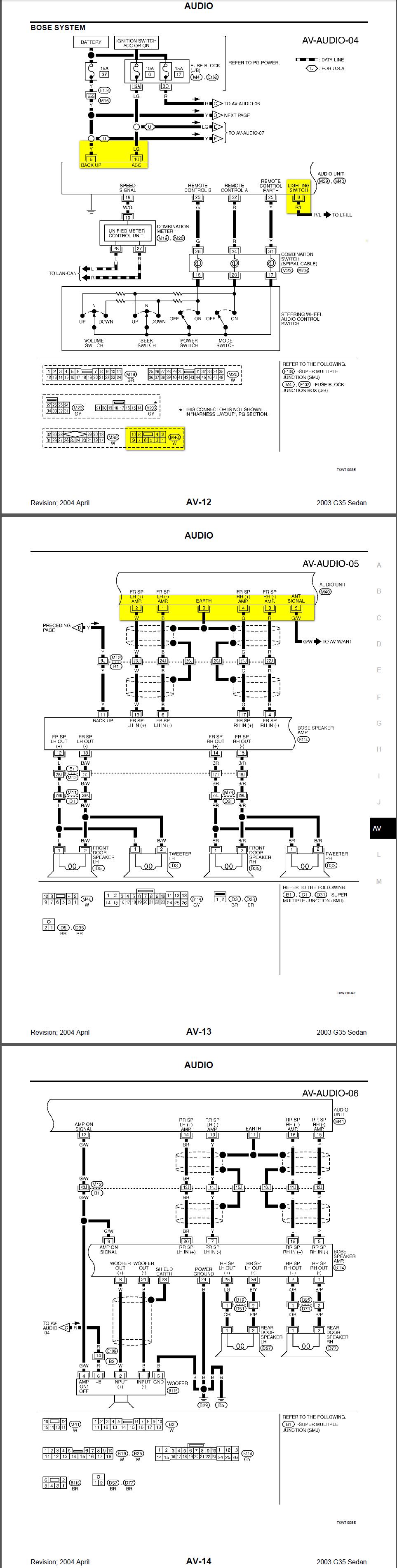 i am replacing audio circuit board on infiniti g35 2003. Black Bedroom Furniture Sets. Home Design Ideas