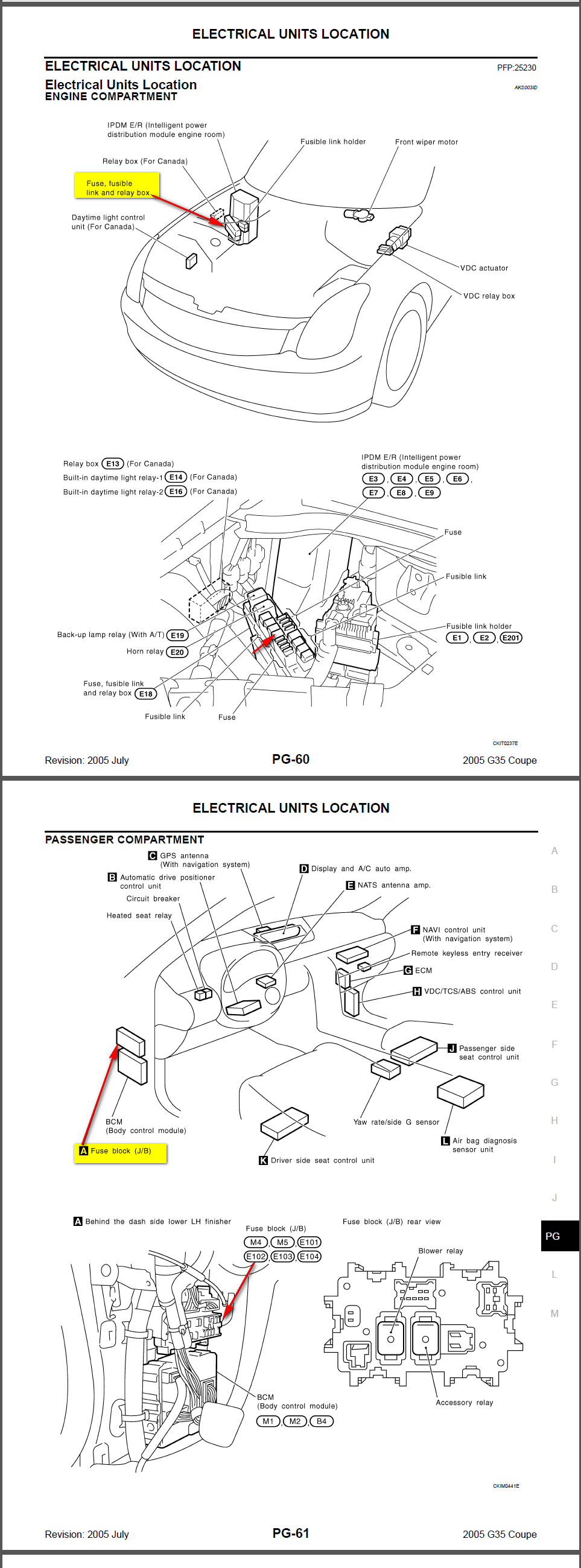 service manual  2011 infiniti g37 fuse block removal