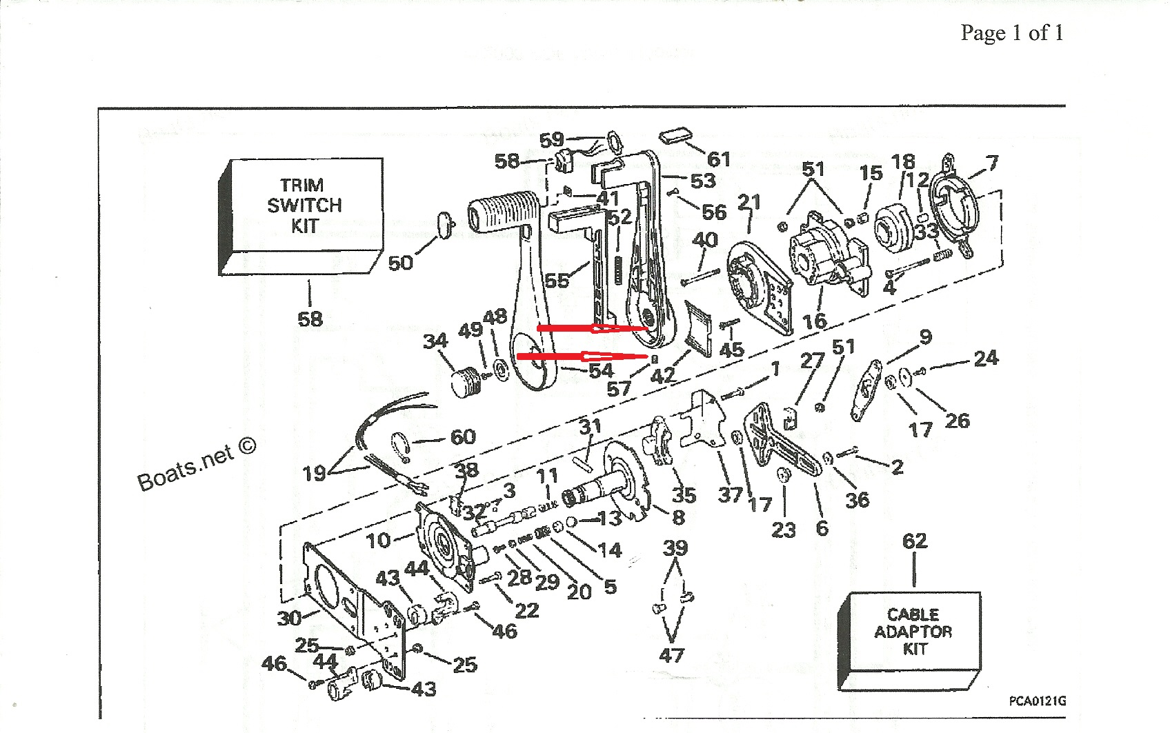 mercury outboard throttle shift control diagram  mercury