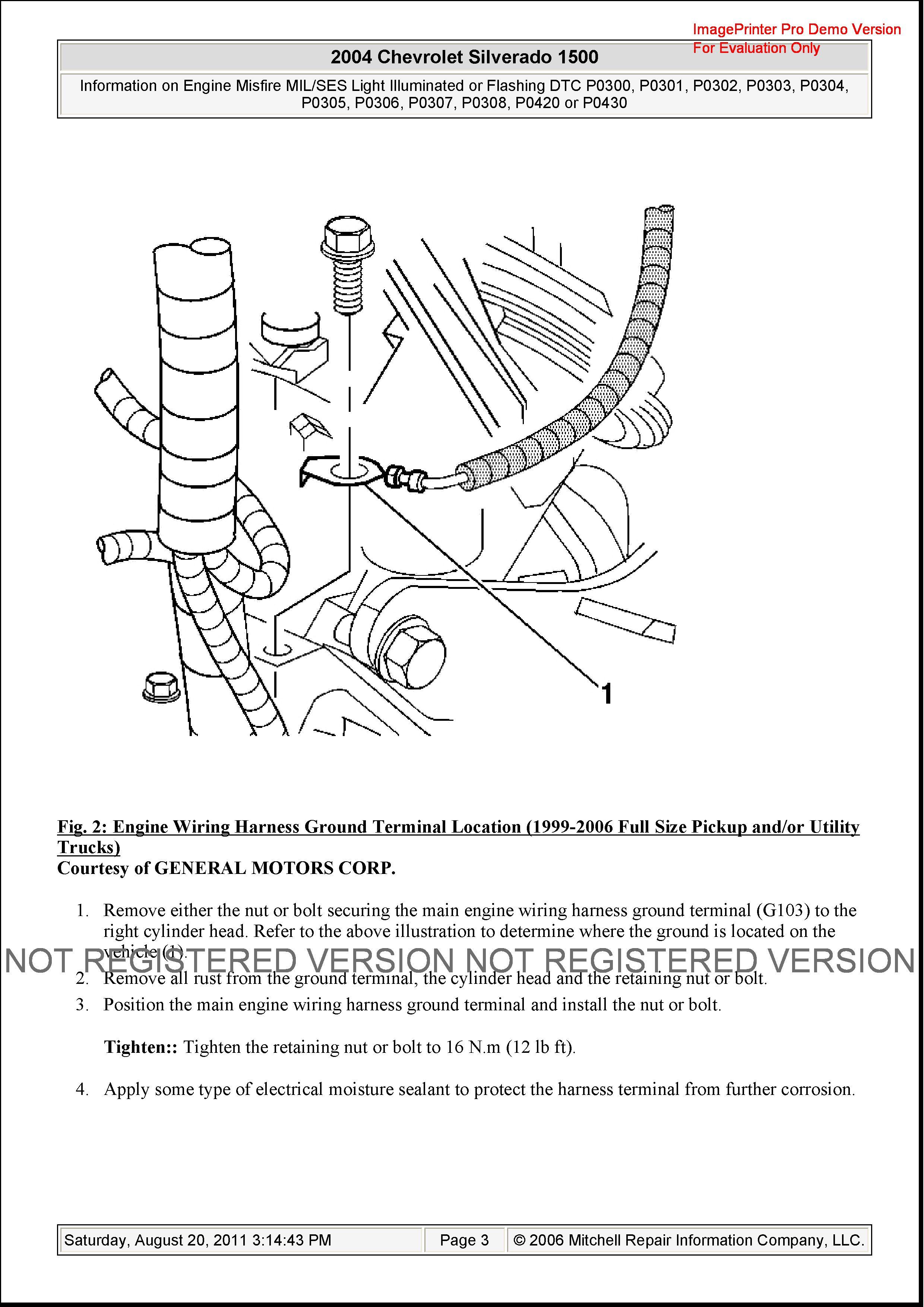 I have a PO300 code on my 2004 Silverado 6 0L engine