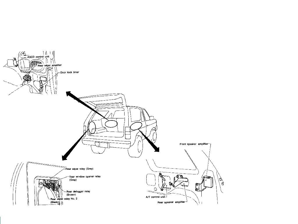 1995 nissan pathfinder stereo location and wire diagrams