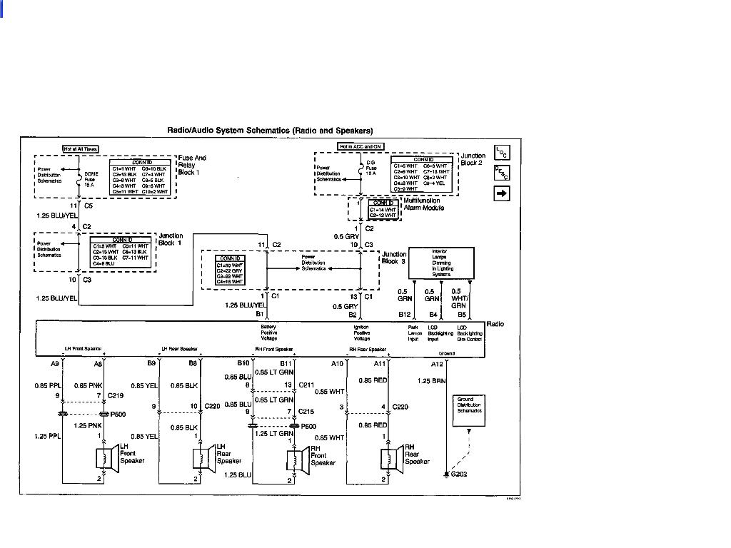 2002 Chevy Prism Radio Wiring Schematic – 2001 Chevy Blazer Wiring Diagram