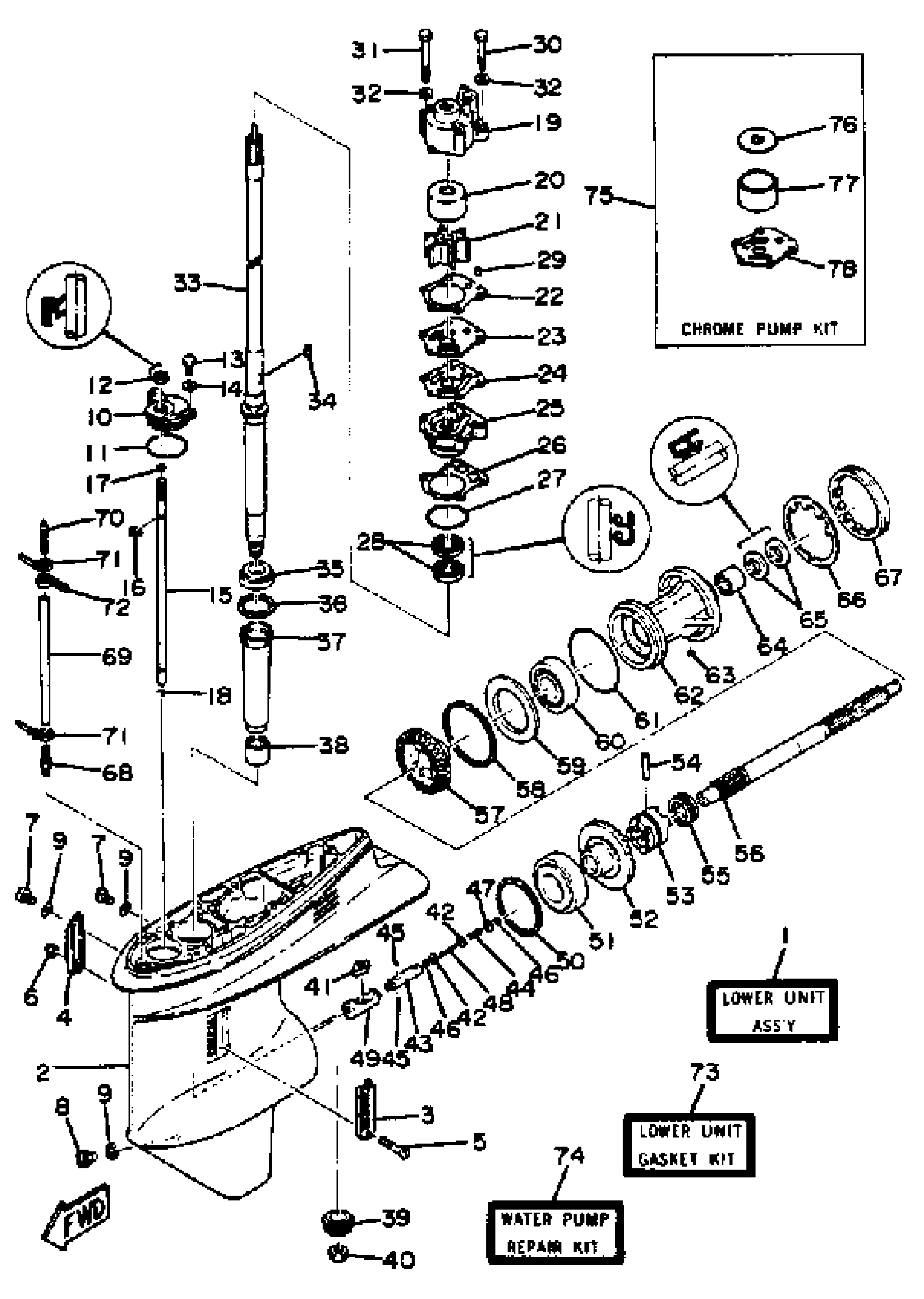 yamaha outboard motor parts diagram