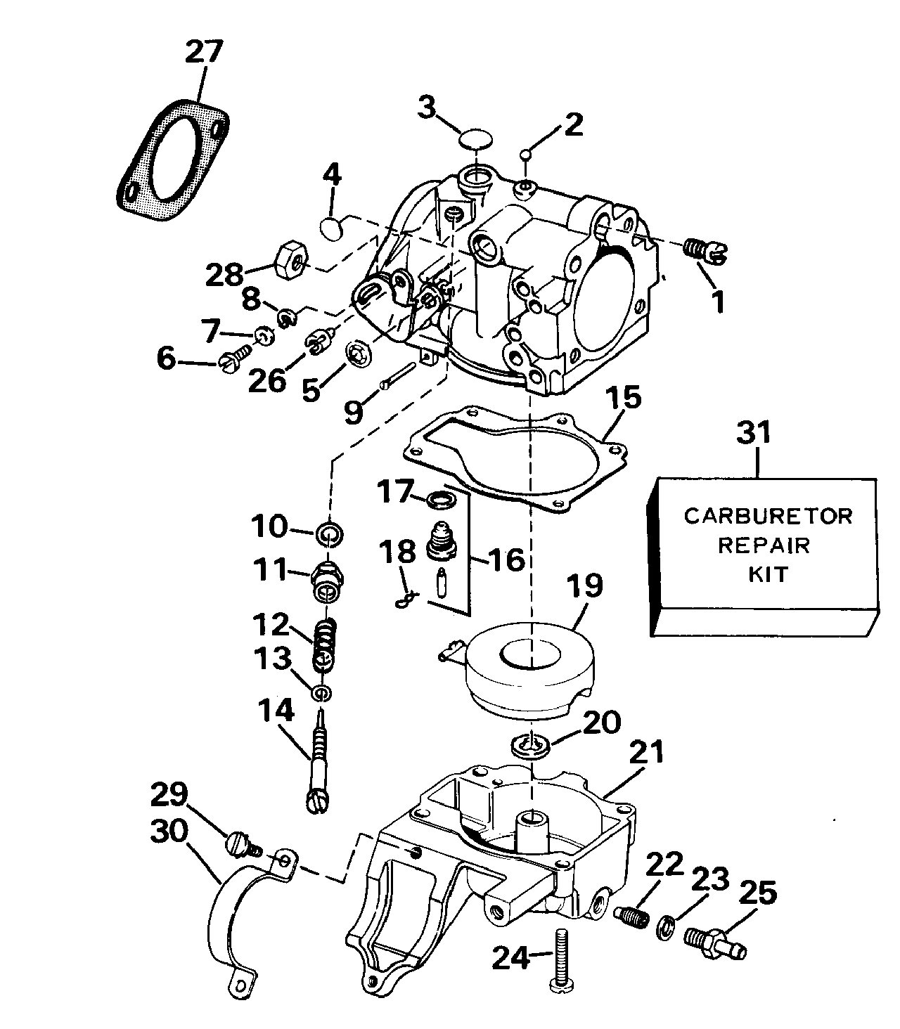 engine diagram johnson outboards