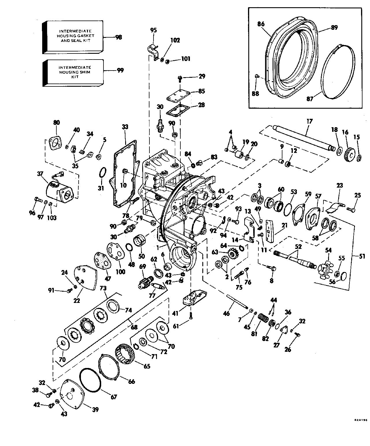 omc sterndrive parts diagram