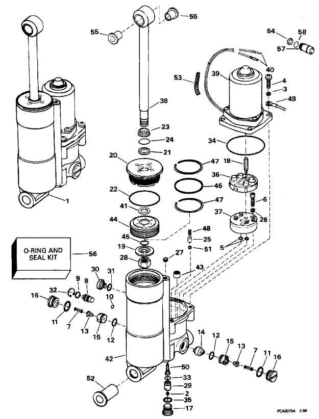 evinrude johnson outboard intake manifold diagram and parts