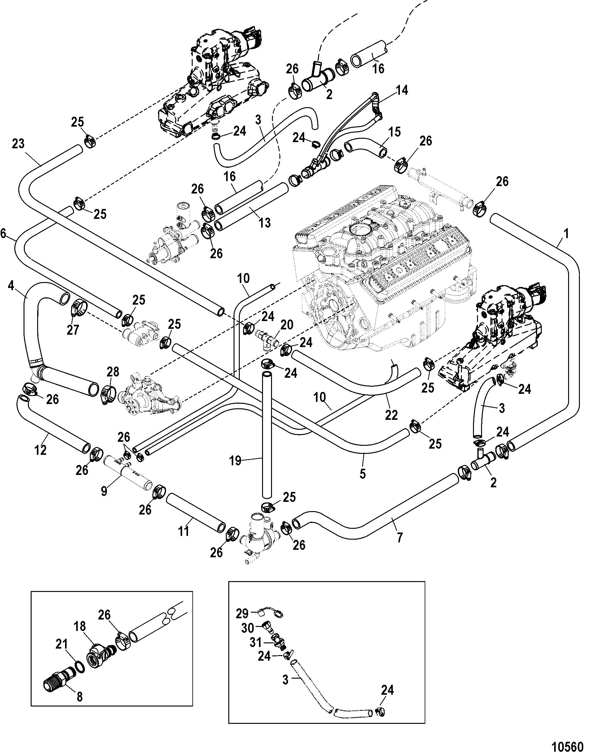 marine engine cooling system flow diagram marine free engine image for user manual