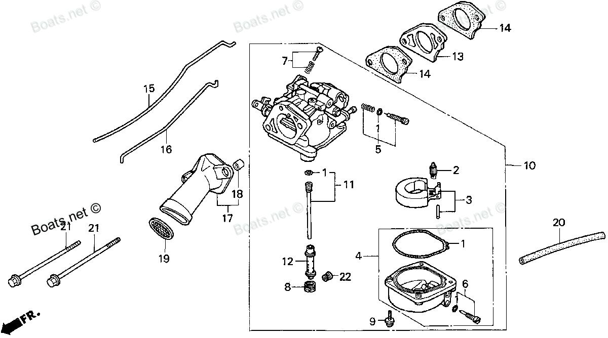Honda Carburetor Diagram 9hp Automotive Wiring Generator I Have Put My 97 9 4 Stroke Back Together But Gc160 Hrr216