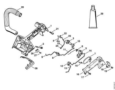 Stihl 044 Carburetor Diagram moreover Fuel Tank Assembly For Stihl Ts410 likewise Stihl 028 Wb Chainsaw Parts Diagram furthermore Stihl Ms 260 Parts Diagram Online also Stihl 025 Exploded Parts Diagram. on ms 460 parts diagram