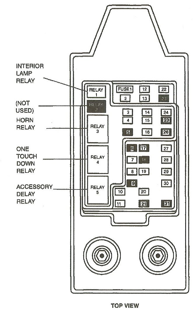 2000 ford f250 under dash fuse diagram