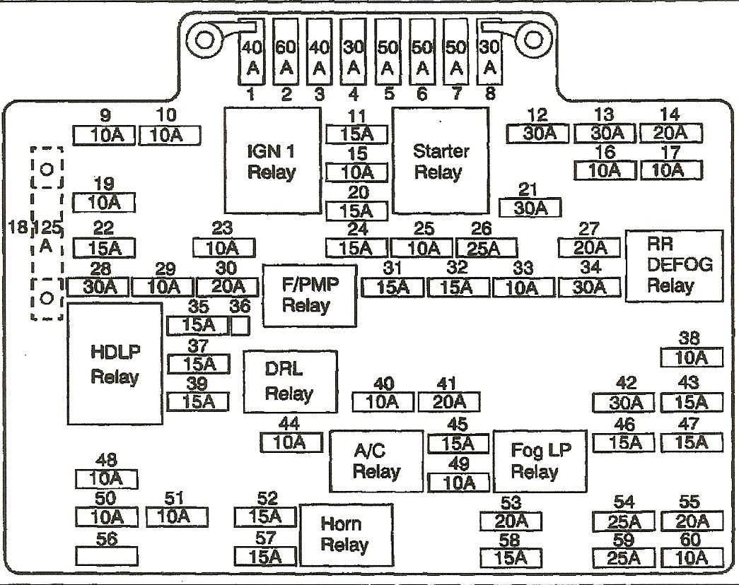 2001 chevy silverado fuse box diagram  2001  free engine