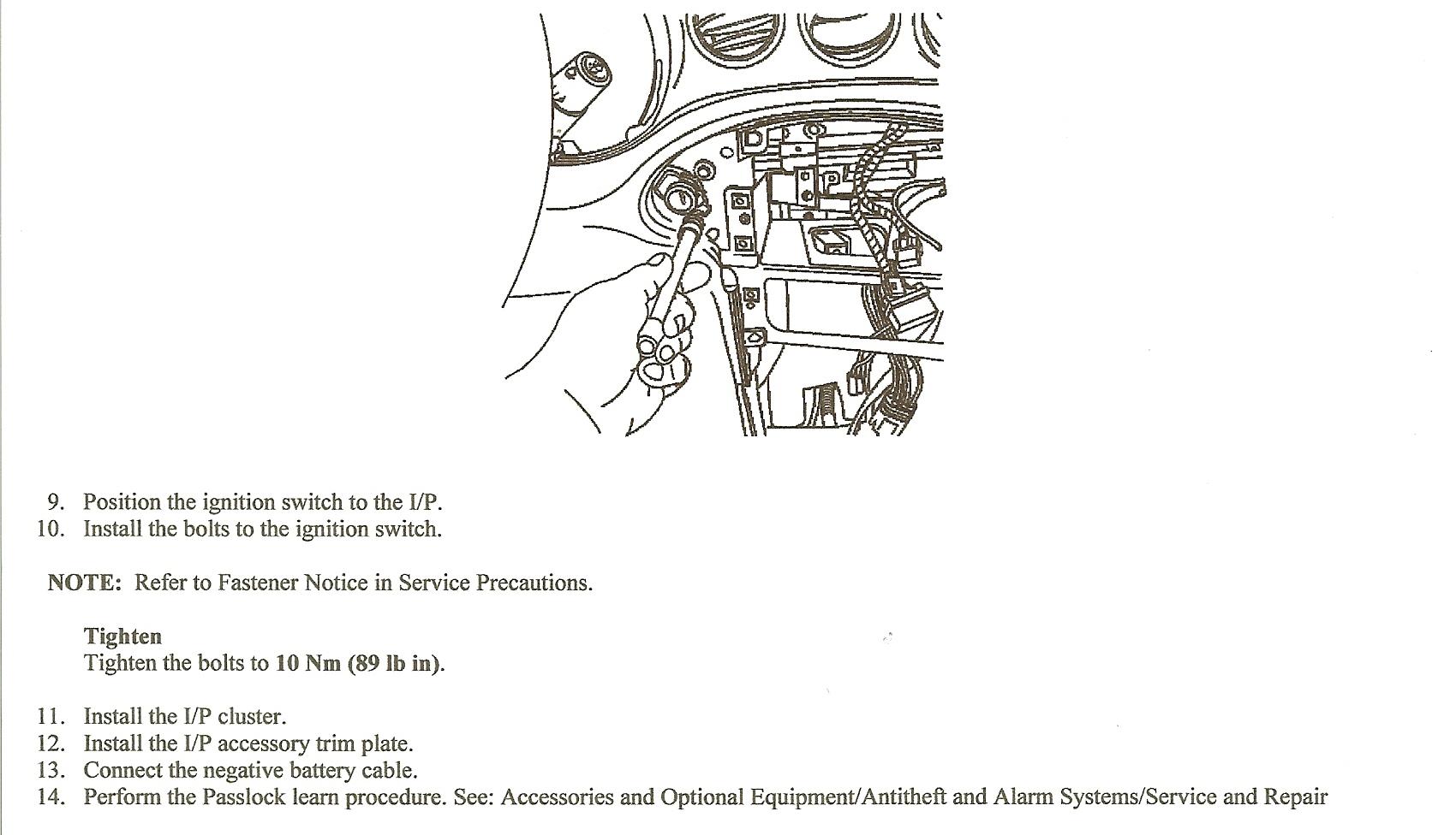 2004 pontiac grand am ignition key starter engages until i turn