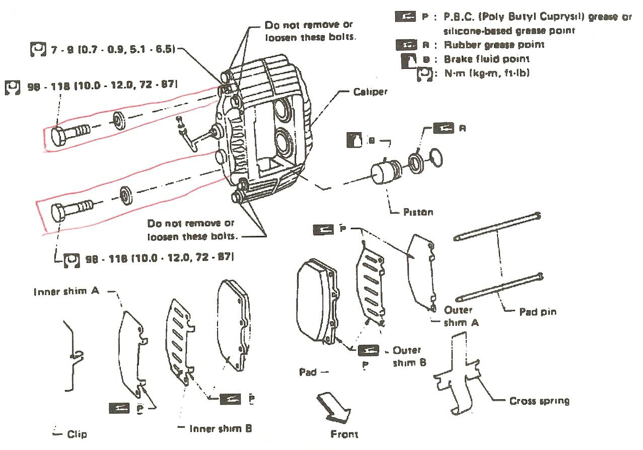 nissan 300zx brake pads