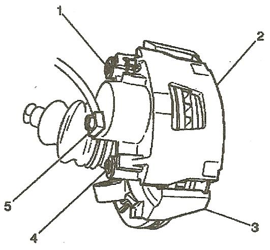 1999 mustang brake caliper parts