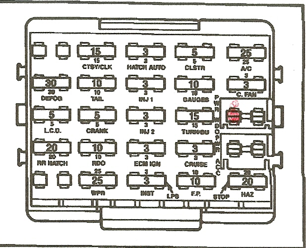 c4 corvette fuse box wiring diagram 84 Corvette Fuel Pump Relay