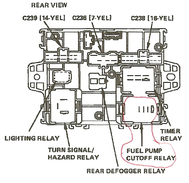 tell me how to identify the fuel pump relay on a 1989 honda accord full size image